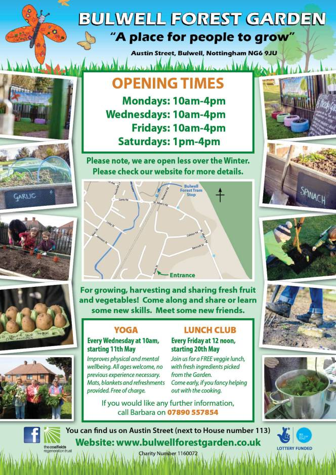 Bulwell Forest Garden Opening Times A4 PROOF